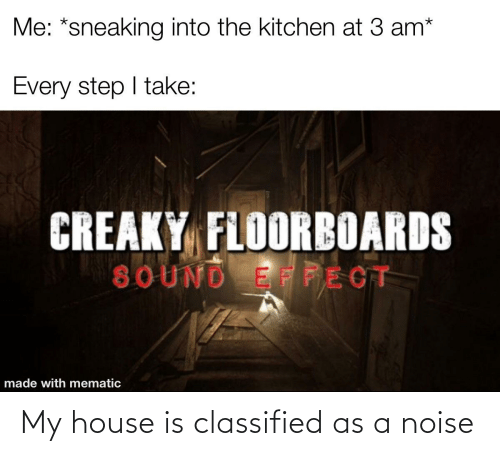 classified: My house is classified as a noise