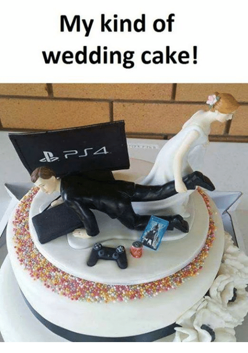 Memes, Cake, and Wedding: My kind of  wedding cake!
