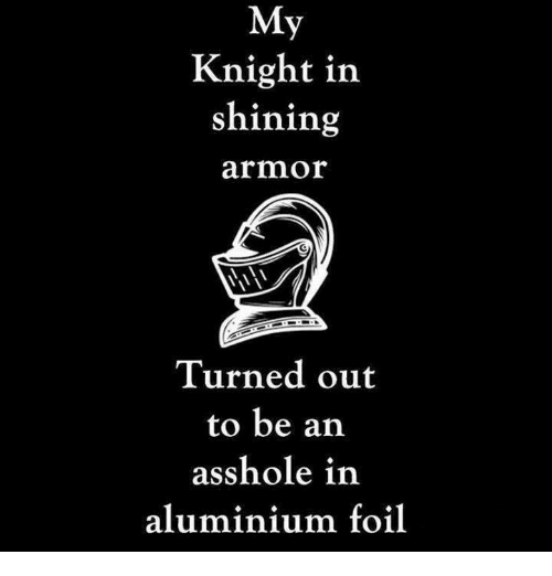 Dank, Asshole, and 🤖: My  Knight in  shining  armor  Turned out  to be an  asshole in  aluminium foil