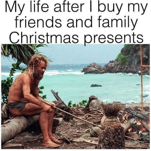 presents: My life after I buy my  friends and family  Christmas presents  @90skidz90s