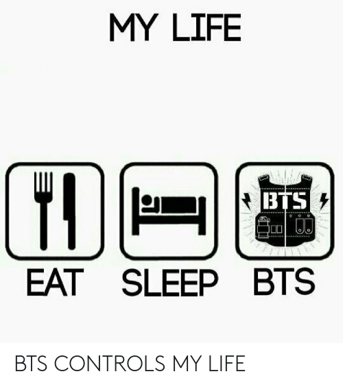 Life, Bts, and Sleep: MY LIFE  BTS  EAT SLEEP BTS BTS CONTROLS MY LIFE