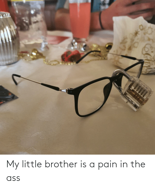 my little: My little brother is a pain in the ass