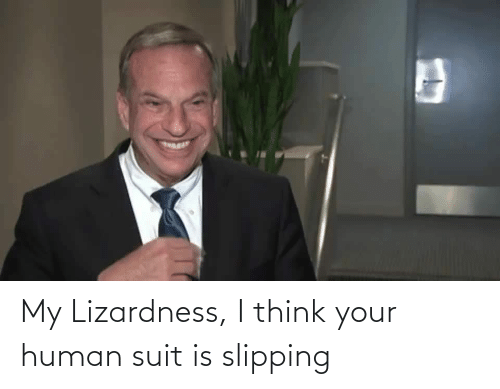 i think: My Lizardness, I think your human suit is slipping