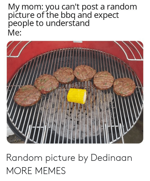 Dank, Memes, and Target: My mom: you can't post a random  picture of the bbq and expect  people to understand  Me: Random picture by Dedinaan MORE MEMES