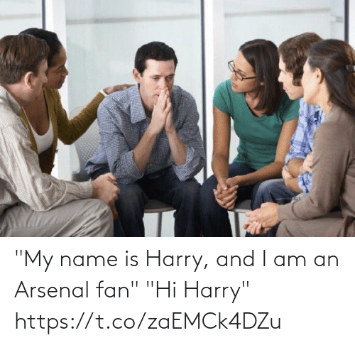 "my name is: ""My name is Harry, and I am an Arsenal fan""  ""Hi Harry"" https://t.co/zaEMCk4DZu"