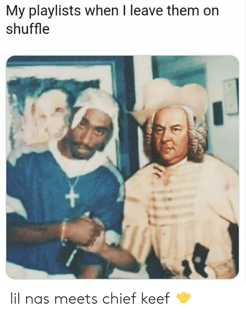 Chief Keef, Memes, and Nas: My playlists when I leave them on  shuffle lil nas meets chief keef 🤝