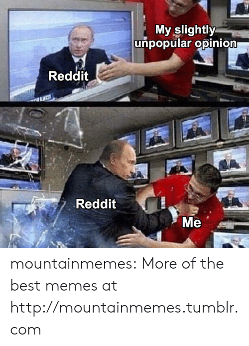 Unpopular: My slightly  unpopular opinion  Reddit  Reddit  Ме mountainmemes:  More of the best memes at http://mountainmemes.tumblr.com