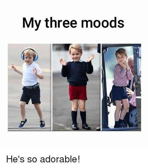 Memes, Adorable, and 🤖: My three moods He's so adorable!