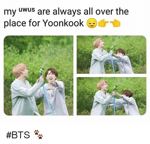 Bts, All, and For: my uWuS are always all over the  place for Yoonkook #BTS 🐾