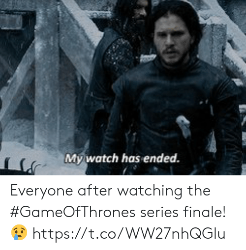Memes, Watch, and 🤖: My,watch has ended. Everyone after watching the #GameOfThrones series finale! 😢 https://t.co/WW27nhQGlu