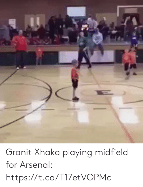 Arsenal, Soccer, and For: /N Granit Xhaka playing midfield for Arsenal: https://t.co/T17etVOPMc
