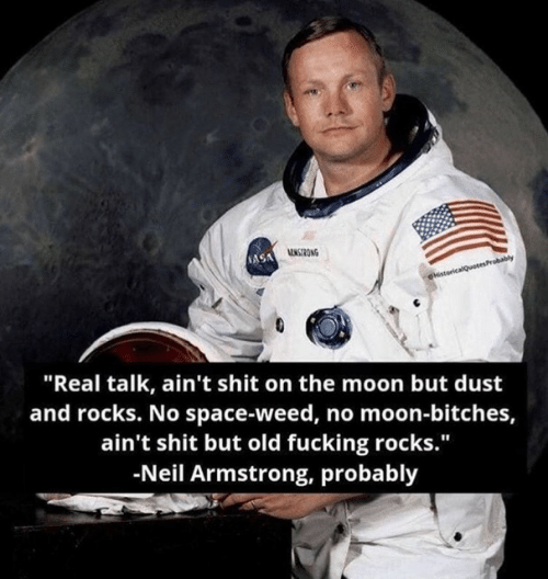 """Fucking, Nasa, and Shit: NASA ONG  HstoricalQuotesProbably  """"Real talk, ain't shit on the moon but dust  