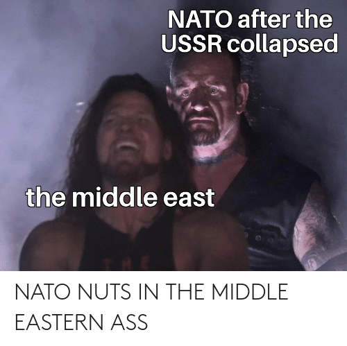 The Middle: NATO NUTS IN THE MIDDLE EASTERN ASS