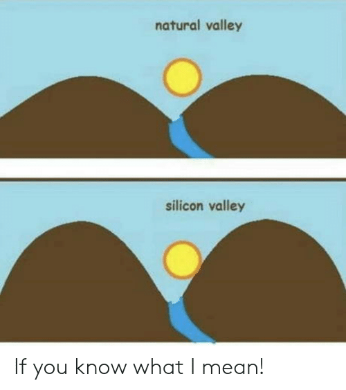 Mean, Silicon Valley, and Silicon: natural valley  silicon valley If you know what I mean!
