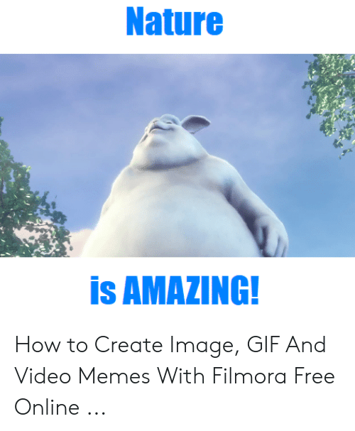 Filmora: Nature  is AMAZING! How to Create Image, GIF And Video Memes With Filmora Free Online ...