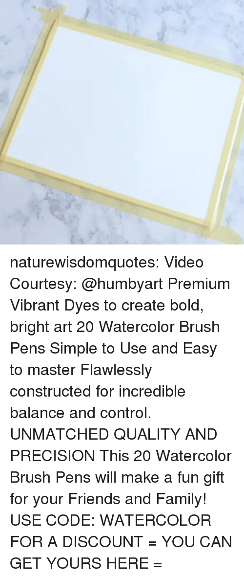 courtesy: naturewisdomquotes: Video Courtesy: @humbyart Premium Vibrant Dyes to create bold, bright art 20 Watercolor Brush Pens Simple to Use and Easy to master Flawlessly constructed for incredible balance and control. UNMATCHED QUALITY AND PRECISION This 20 Watercolor Brush Pens will make a fun gift for your Friends and Family! USE CODE: WATERCOLOR FOR A DISCOUNT = YOU CAN GET YOURS HERE =