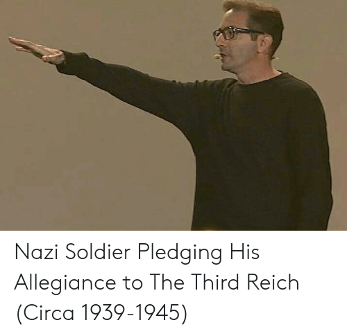 Nazi, Allegiance, and Soldier: Nazi Soldier Pledging His Allegiance to The Third Reich (Circa 1939-1945)