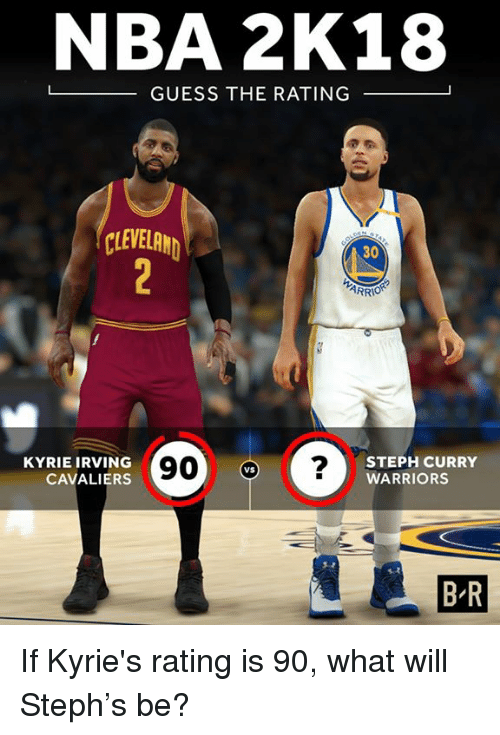 354cd633ee52 NBA 2K18 -GUESS THE RATING CLEVELAND 30 ARR KYRIE IRVING CAVALIERS ...