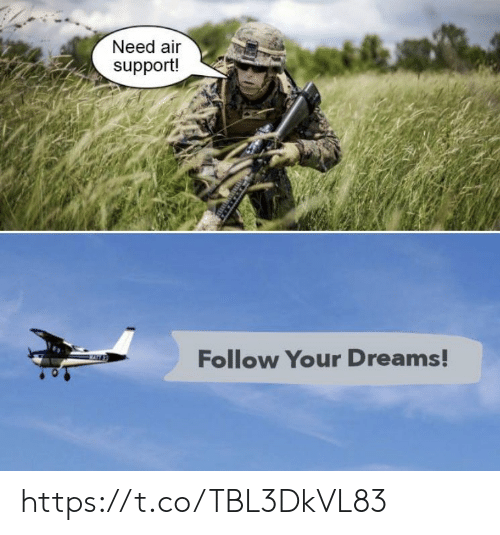 Memes, Dreams, and 🤖: Need air  support!  Follow Your Dreams! https://t.co/TBL3DkVL83