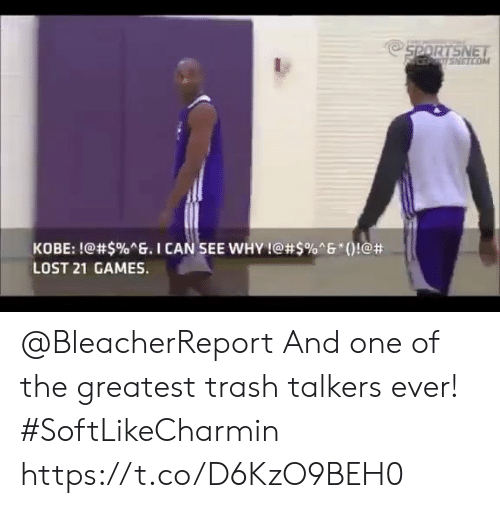 """See Why: NETCO  KOBE: !@#$%ng. I CAN.SEE WHY !@#5%""""6""""()!@#  LOST 21 GAMES. @BleacherReport And one of the greatest trash talkers ever! #SoftLikeCharmin   https://t.co/D6KzO9BEH0"""