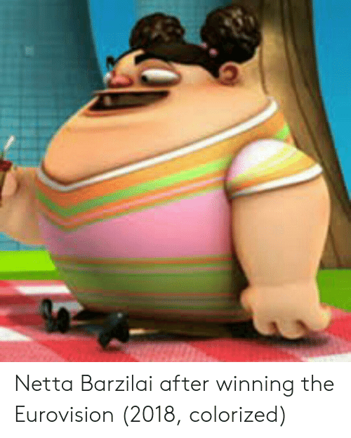 Eurovision, Winning, and The: Netta Barzilai after winning the Eurovision (2018, colorized)