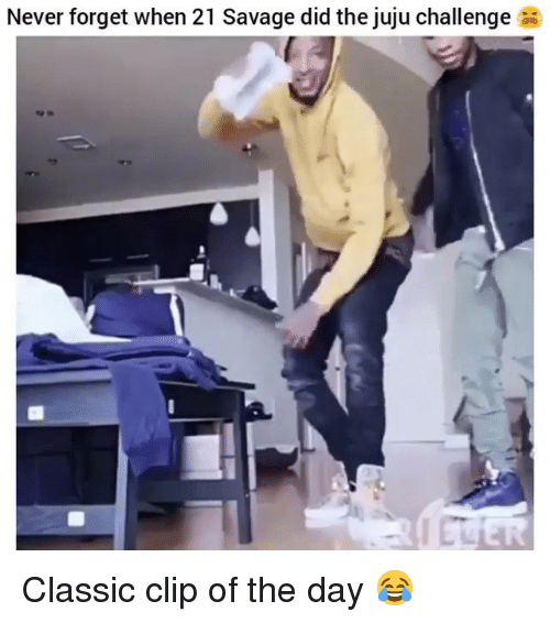 Funny, Savage, and Never: Never forget when 21 Savage did the juju challenge  ER Classic clip of the day 😂