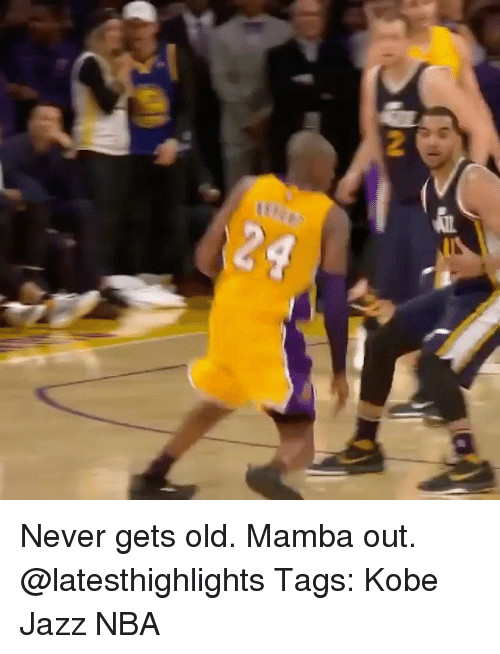 Memes, Nba, and Kobe: Never gets old. Mamba out. @latesthighlights Tags: Kobe Jazz NBA