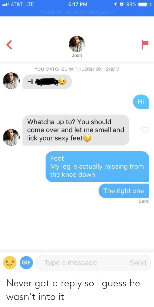reply: Never got a reply so I guess he wasn't into it