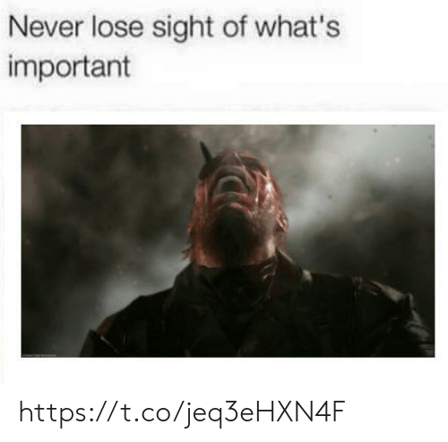 Never, Whats, and Lose: Never lose sight of what's  important https://t.co/jeq3eHXN4F