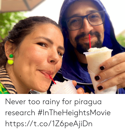 Memes, Never, and 🤖: Never too rainy for piragua research #InTheHeightsMovie https://t.co/1Z6peAjiDn