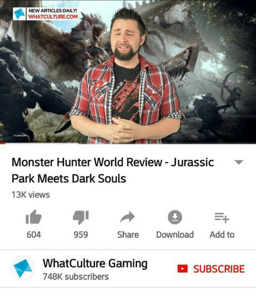 New Articles Daily Whatculturecom Monster Hunter World Review