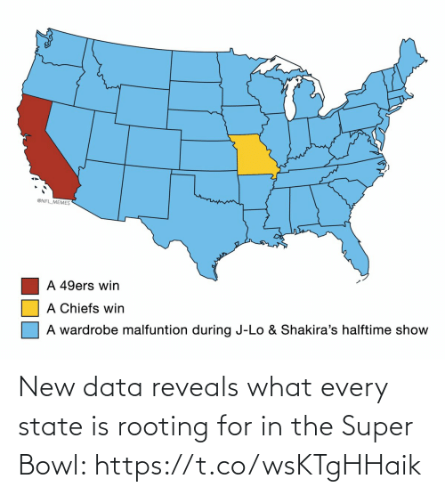 Super Bowl: New data reveals what every state is rooting for in the Super Bowl: https://t.co/wsKTgHHaik