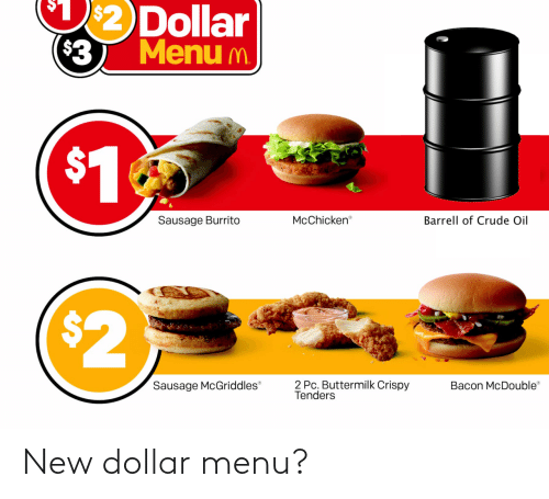 Dollar: New dollar menu?