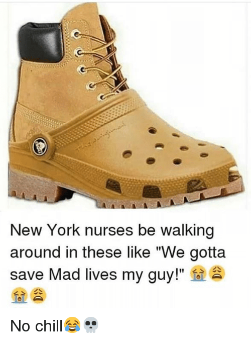 "Chill, New York, and No Chill: New York nurses be walking  around in these like ""We gotta  save Mad lives my guy!""  fo  > 소 No chill😂💀"