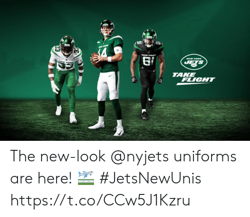 Memes, New York, and Flight: NEW YORK  TAKE  FLIGHT The new-look @nyjets uniforms are here! 🛫  #JetsNewUnis https://t.co/CCw5J1Kzru