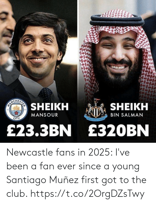 club: Newcastle fans in 2025: I've been a fan ever since a young Santiago Muñez first got to the club. https://t.co/2OrgDZsTwy
