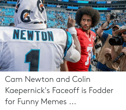 Cam Newton Memes: NEWTON Cam Newton and Colin Kaepernick's Faceoff is Fodder for Funny Memes ...