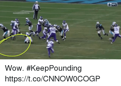 Memes, Nfl, and Wow: NFL  98 Wow. #KeepPounding https://t.co/CNNOW0COGP
