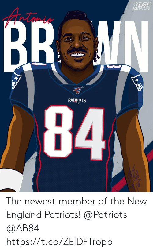 England, Memes, and New England Patriots: NFL  BR MN  84  D  PATRIOTS The newest member of the New England Patriots!  @Patriots   @AB84 https://t.co/ZElDFTropb
