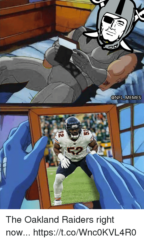 Football, Memes, and Nfl: @NFL MEMES The Oakland Raiders right now... https://t.co/Wnc0KVL4R0
