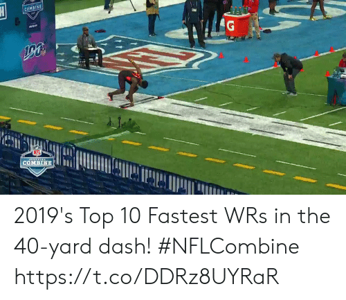 Memes, Nfl, and 🤖: NFL  OMBİNE 2019's Top 10 Fastest WRs in the 40-yard dash! #NFLCombine https://t.co/DDRz8UYRaR
