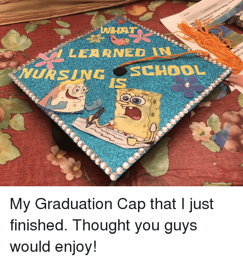 Thought, Cap, and You: NHAT  I LEARNED  IS My Graduation Cap that I just finished. Thought you guys would enjoy!