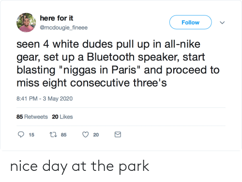 Nice: nice day at the park