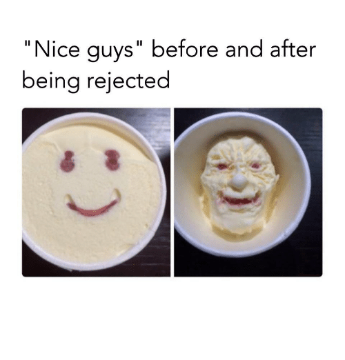 """Nice, Nice Guys, and Guys: """"Nice guys"""" before and after  being rejected"""