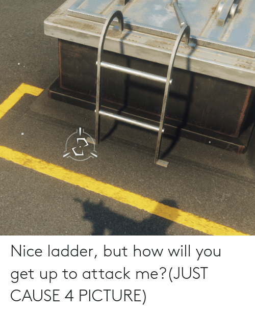 But How: Nice ladder, but how will you get up to attack me?(JUST CAUSE 4 PICTURE)