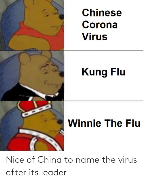 To Name: Nice of China to name the virus after its leader