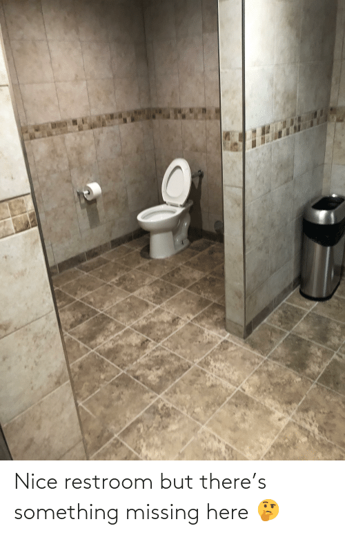Restroom: Nice restroom but there's something missing here 🤔