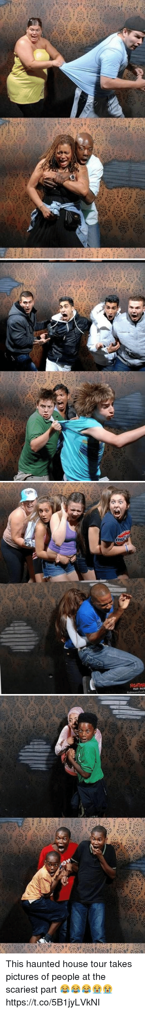 Funny, House, and Pictures: Nightmare Fearfa This haunted house tour takes pictures of people at the scariest part 😂😂😂😭😭 https://t.co/5B1jyLVkNI