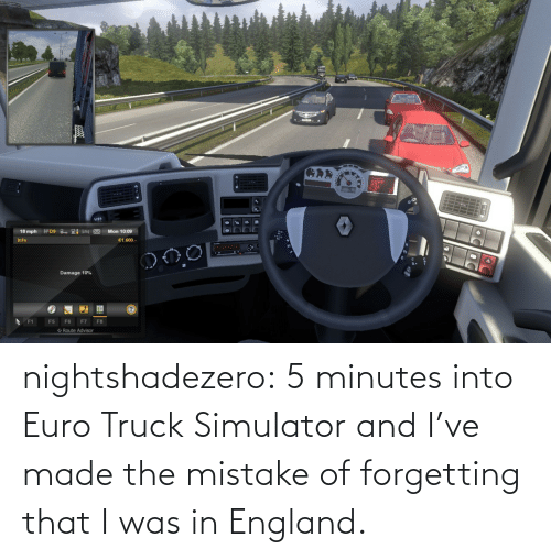 England: nightshadezero: 5 minutes into Euro Truck Simulator and I've made the mistake of forgetting that I was in England.