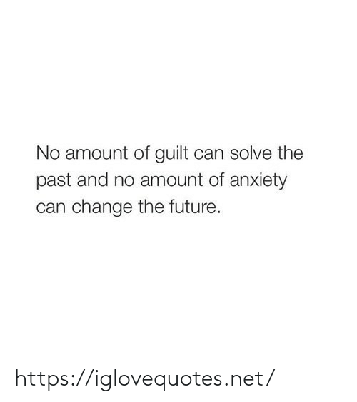 Amount: No amount of guilt can solve the  past and no amount of anxiety  can change the future. https://iglovequotes.net/